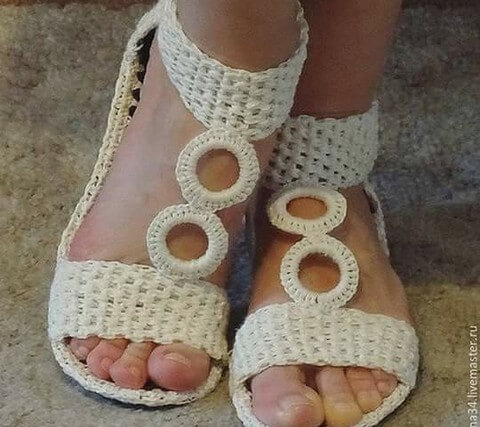 DIY crochet Shoze -3