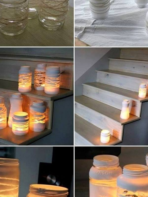 GLASS JAR CANDLE HOLDERS