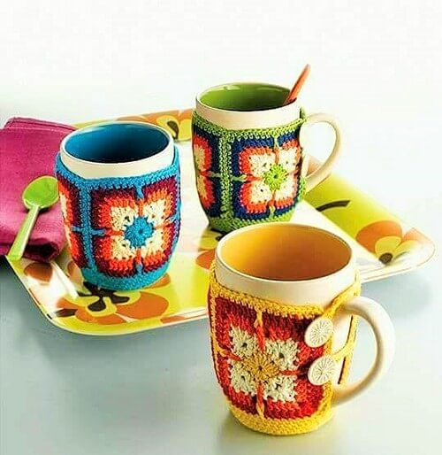 Crochet cup covers (2)