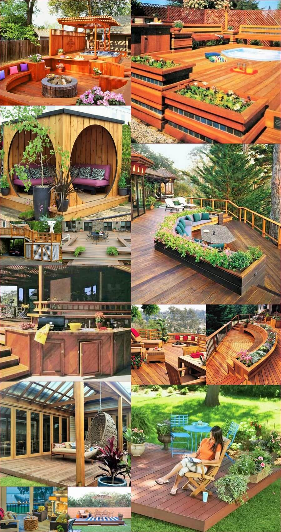 backyard decorating ideas with decks and woodworking
