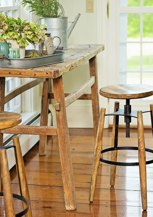 Wooden-stable-height-bar-stool-mango-wood-steel (2)