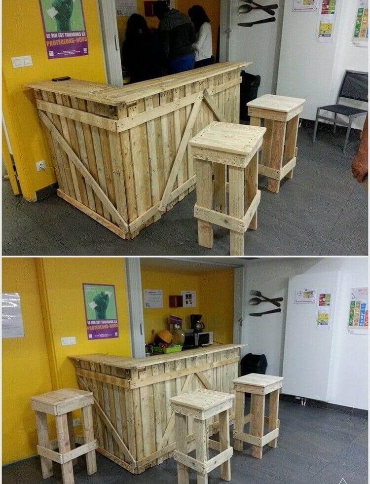 Wooden Pallet-Bar-Counter