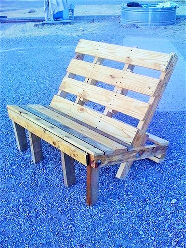 Wooden Pallet-Outdoor-Bench