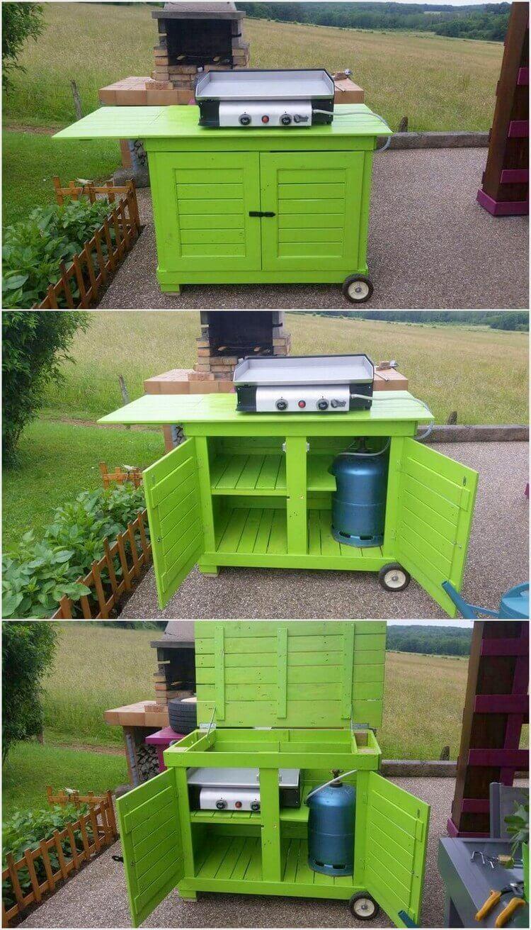 DIY Wooden-Pallet-Mobile-Kitchen