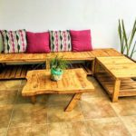 DIY Wooden Pallets Setting Banch-102 (2)