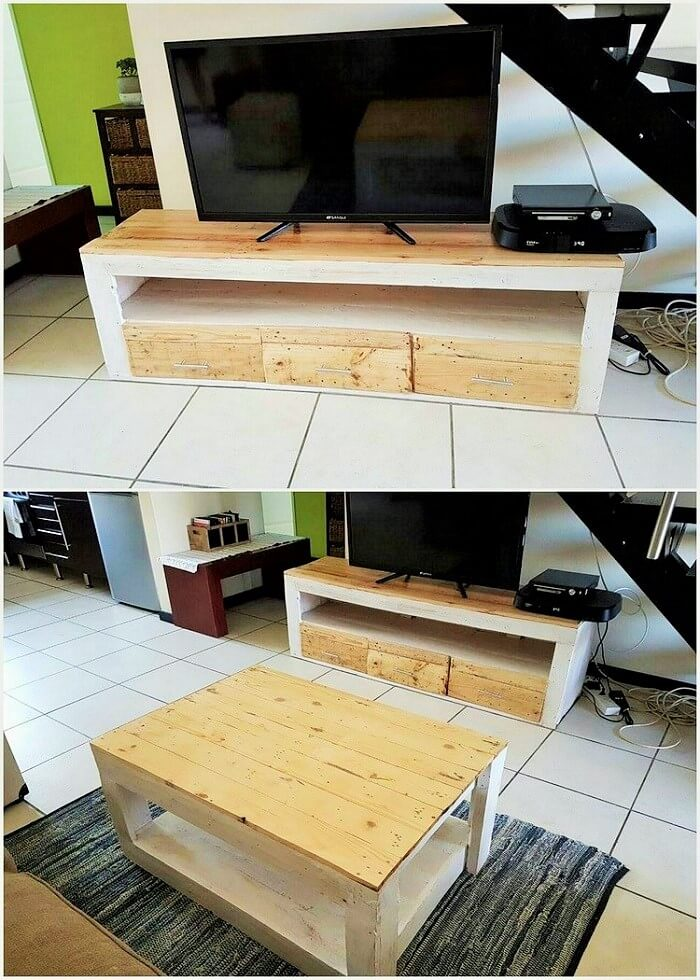 Pallet-Media-Table-and-Coffee-Table (2)