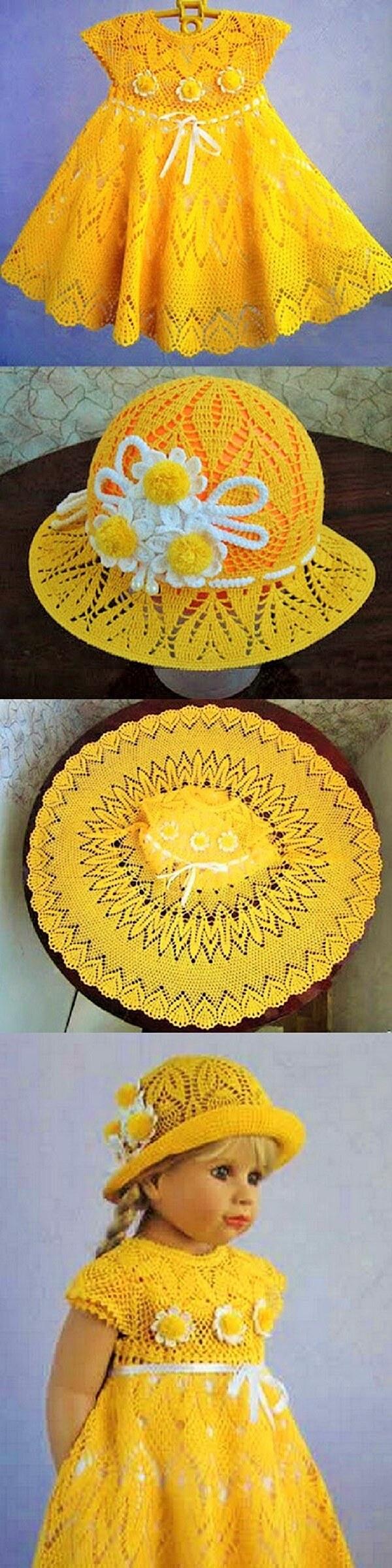 Baby-dress-children-yellow-crochet-ideas (2)