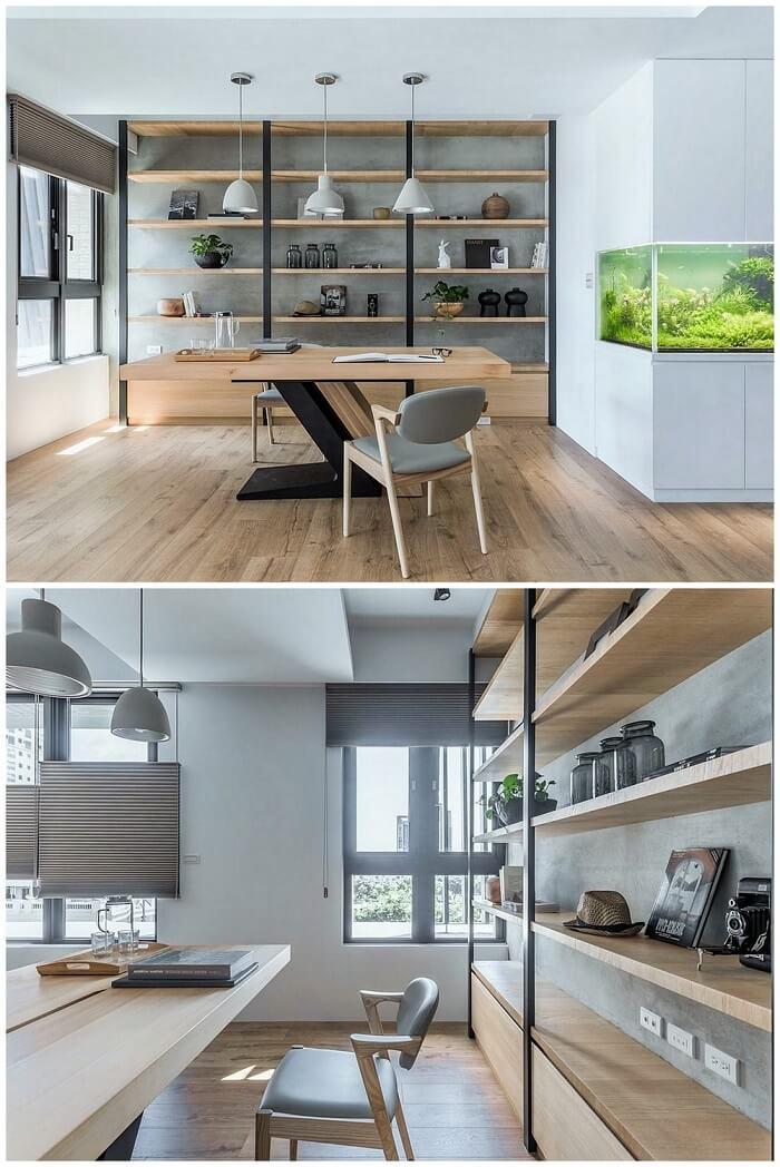 home decor-Wood-shelving-unit