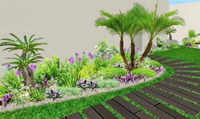 If You Want A Quite Decent Look For The Small House Garden Of Yours, Then  Go For Simple Yet Classy Plant As You Can See In The Below Picture.