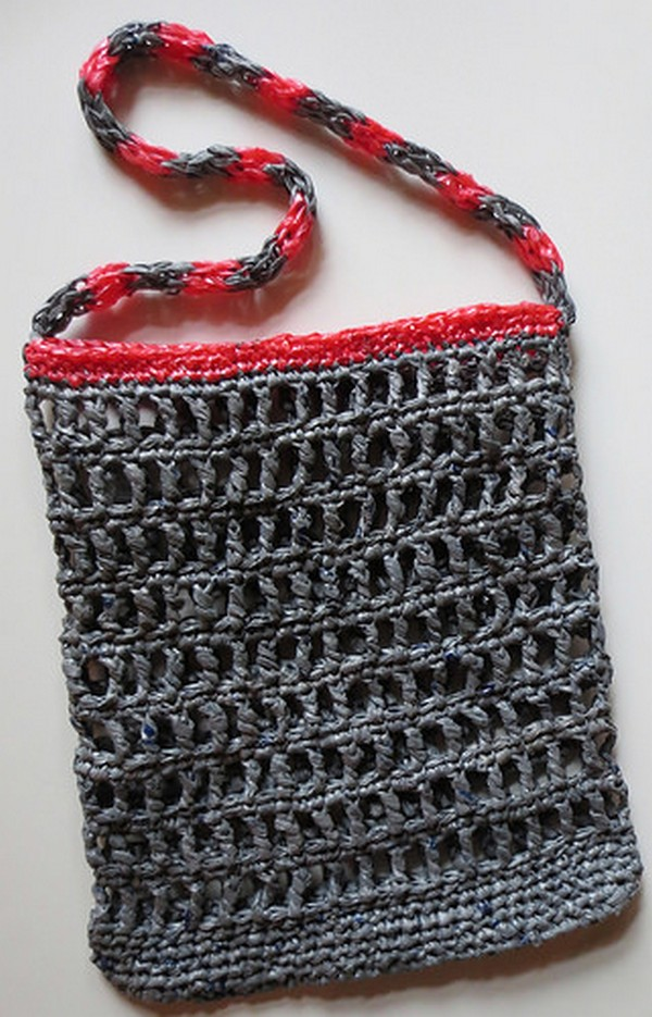 new reusable crochet bag