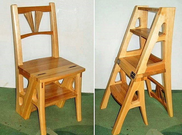 Wooden Ladder Chair