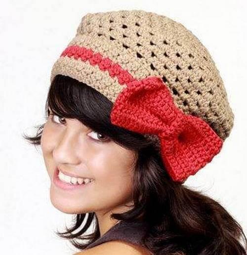 DIY Crochet Gril Cap