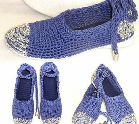 DIY crochet Shoe-3