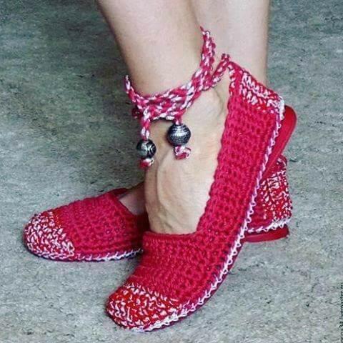 DIY crochet Shoe-5