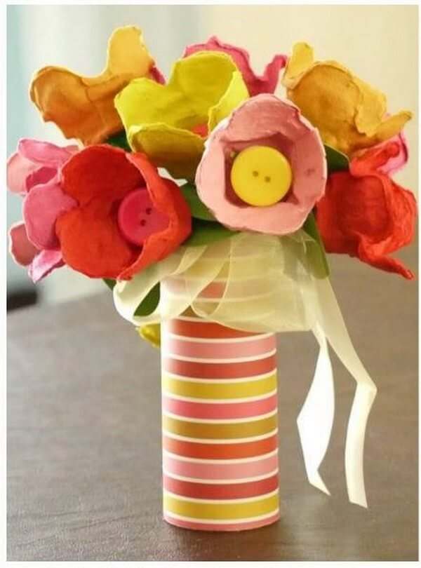 Diy Best Crafting Ideas For Your Home 1001 Motive Ideas: egg carton flowers ideas