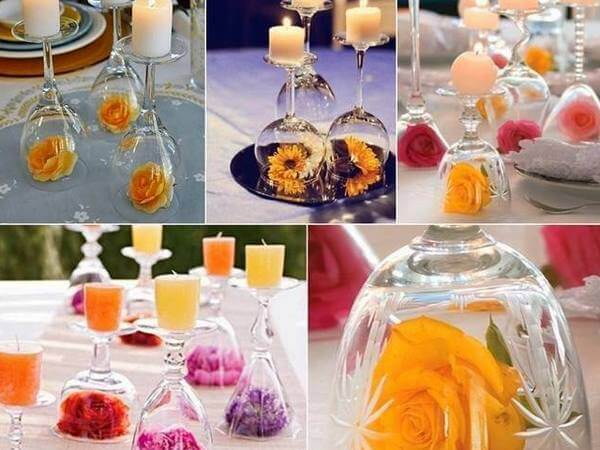GLASS CANDLE HOLDERS-Ideas