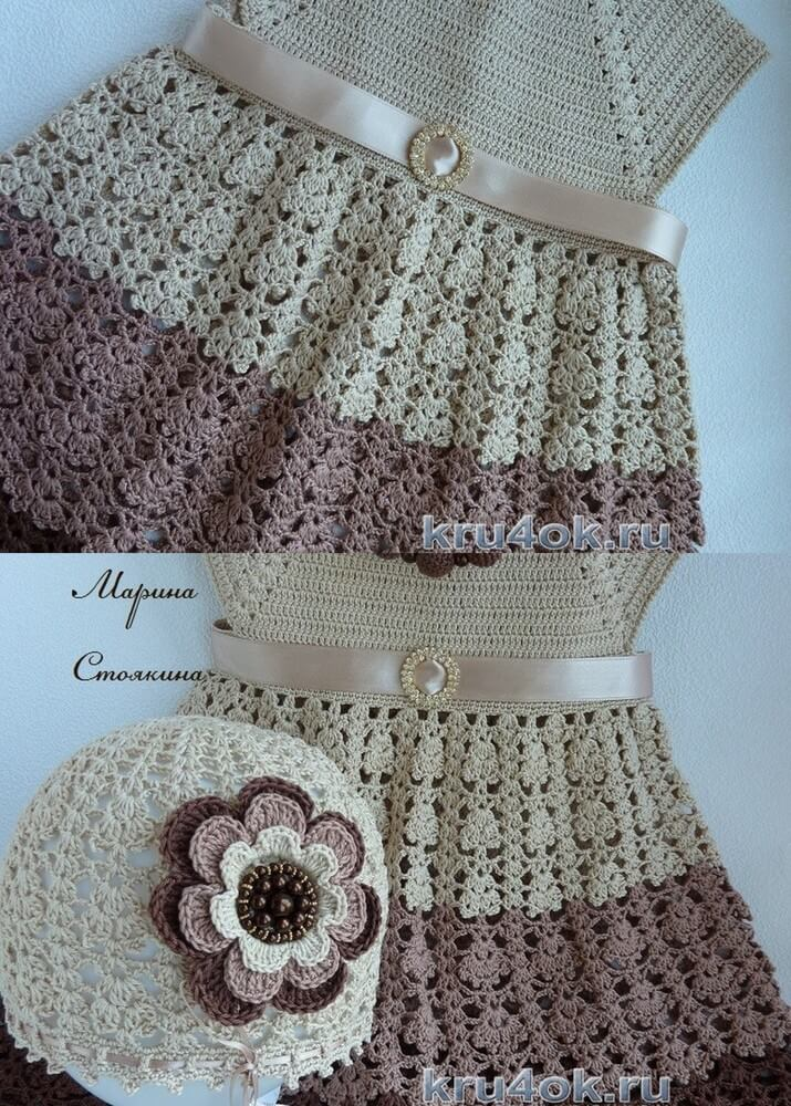 crochet-Baby-Dress-Set
