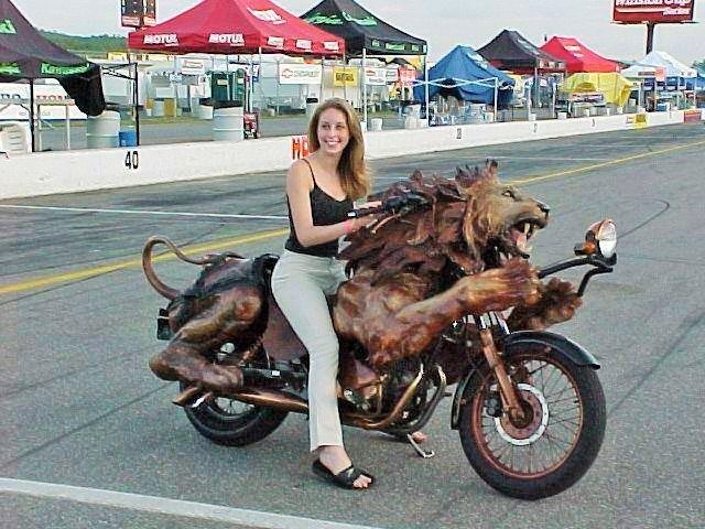 wooden unique motorcycle (2)