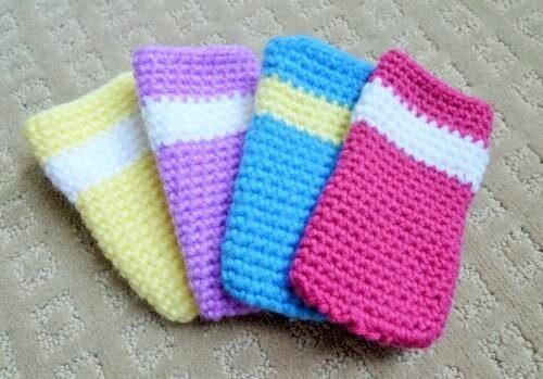 Crochet mobile covers (2)