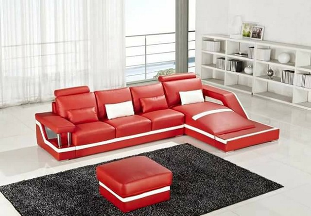 Living room-decor-red-Sofa