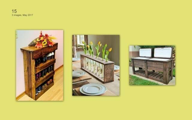 wooden-Pallets Furniture items