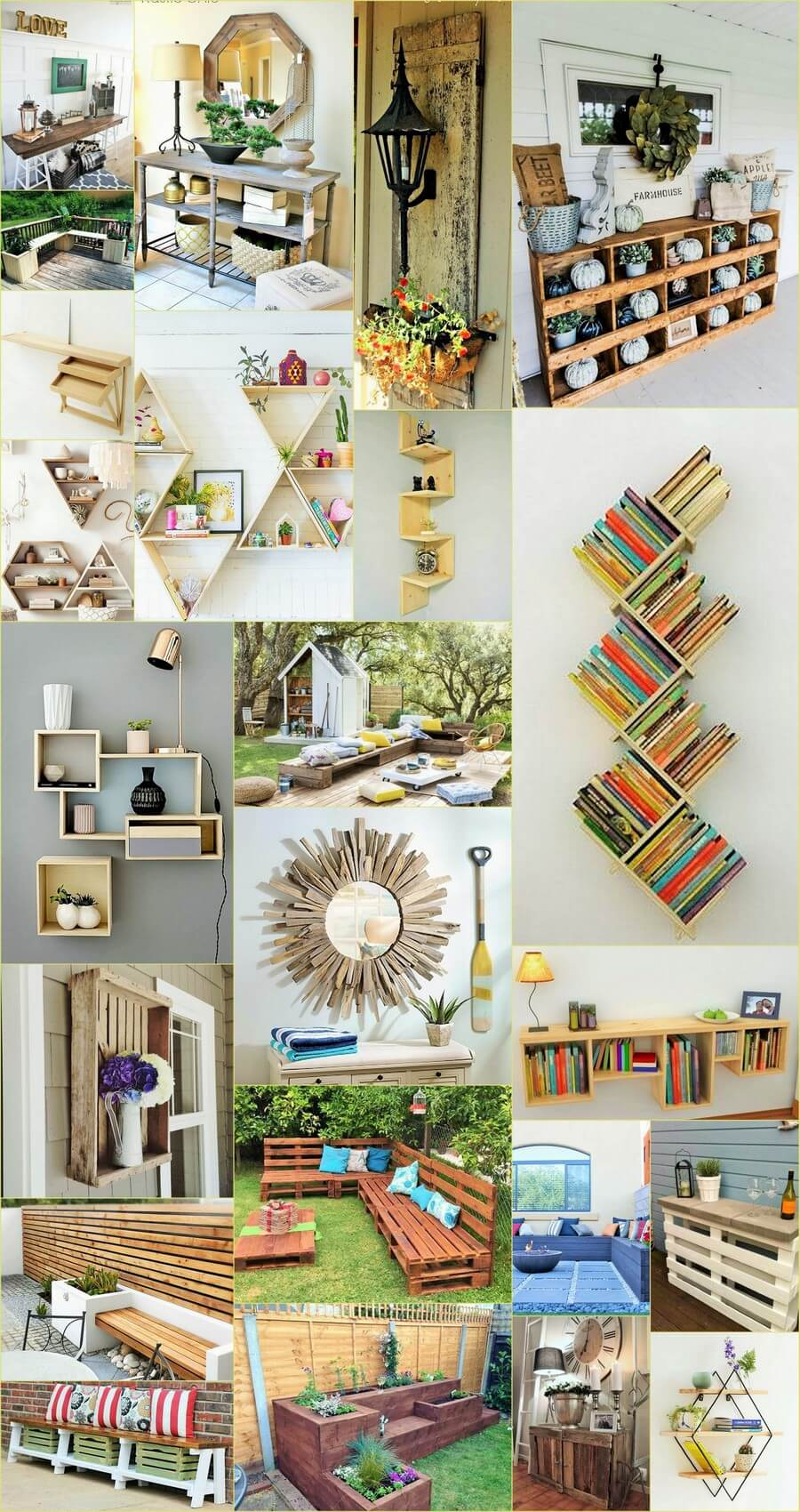 Pallets Ideas With The Wooden Palette You Can Make Boundary Of Mirror And Tables As Well If Want Here See Both In