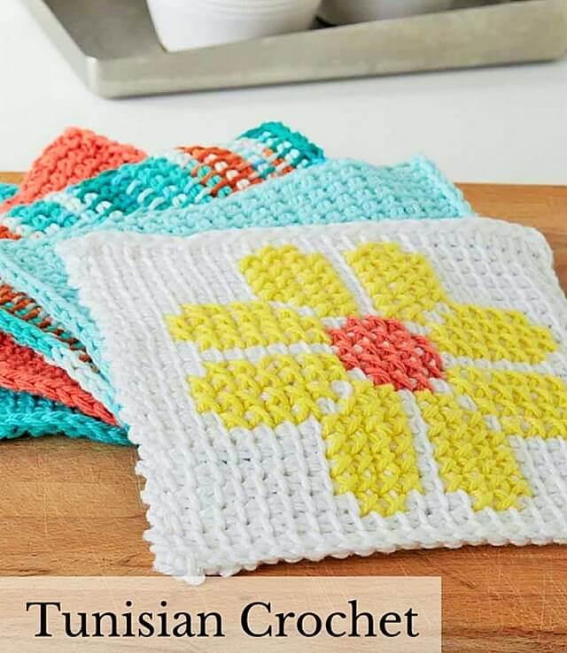 tunisian-crochet-dishcloth