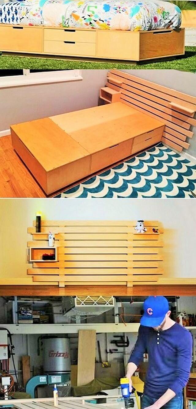 DIY Modular Headboard Woodworking
