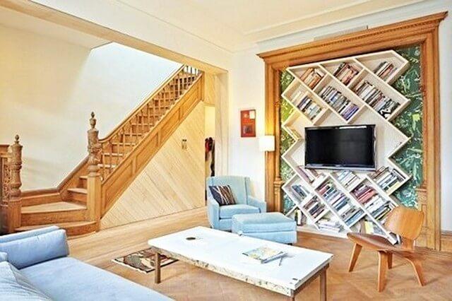 Home Decor Ideas-Custom-bookshelf-design