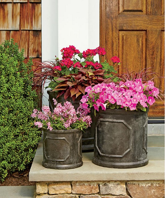 Pink Nature Inspired Planters Gardening Ideas