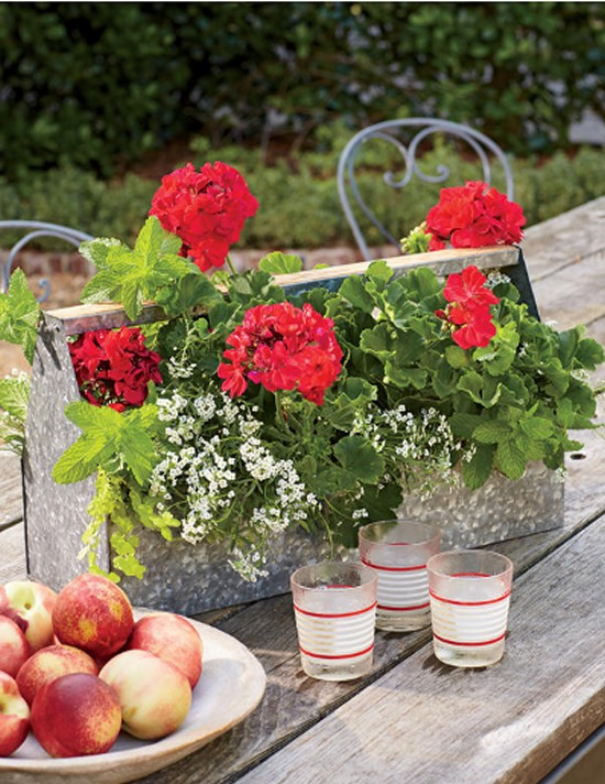 Rustic Tabletop-Gardening Ideas