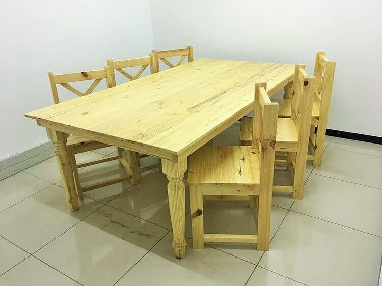 DIY Wooden Pallet-Dining-Table-with-Chairs (2)