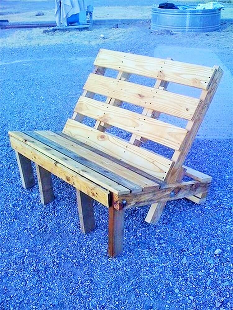 Wooden Pallet-Outdoor-Bench