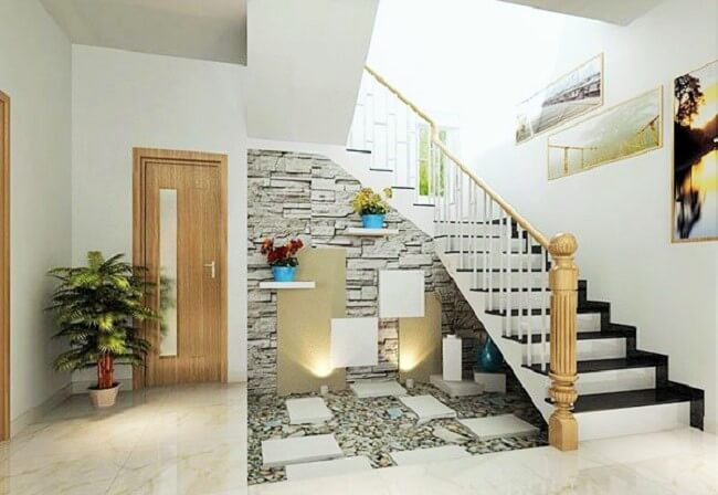 Under the stairs decoration ideas with plants 1001 for Garden design under the stairs