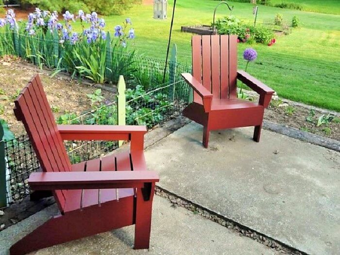 DIY Wooden Pallets Chair-5