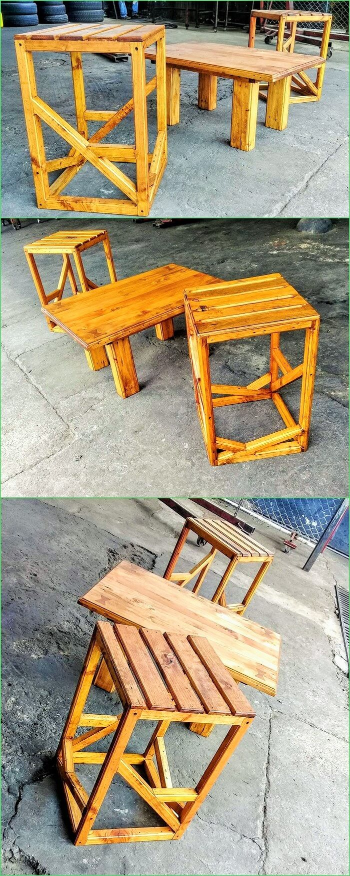 DIY Wooden Pallets Table Banch (2)