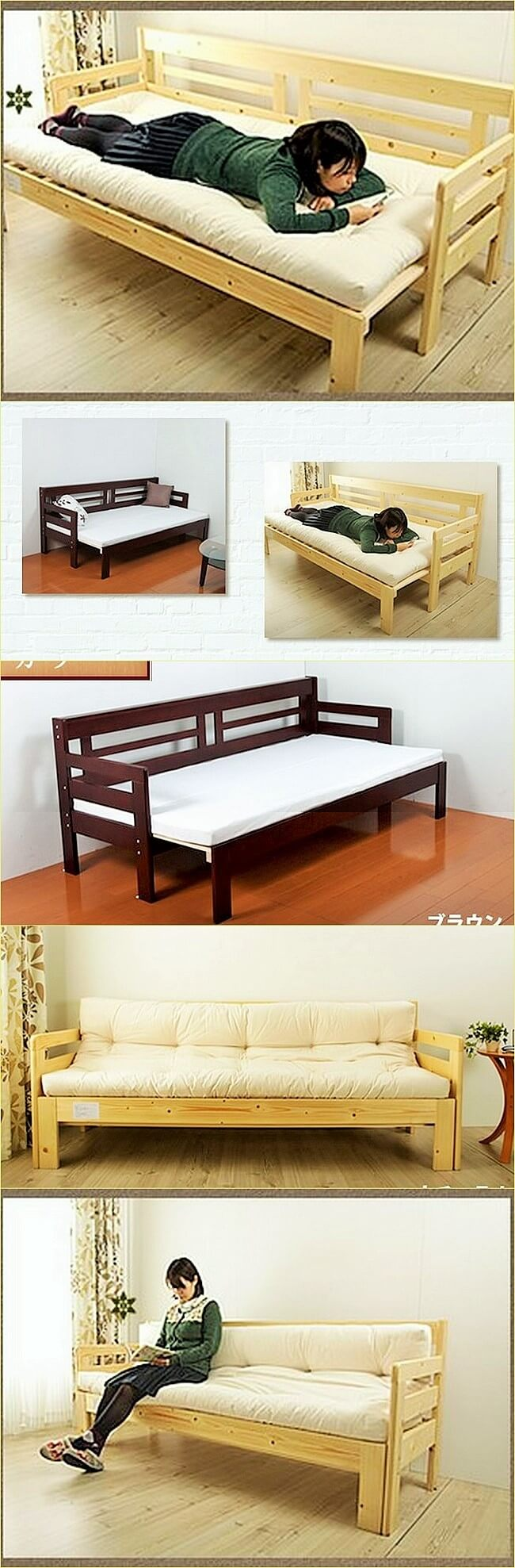 Painted-Pallet-Bench and Bed