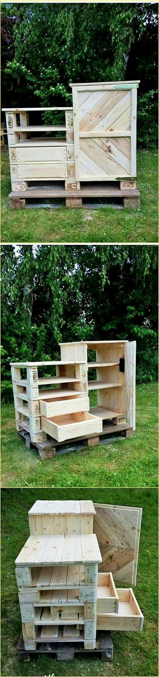 Wooden-Pallet-Cabinet-with-Drawers