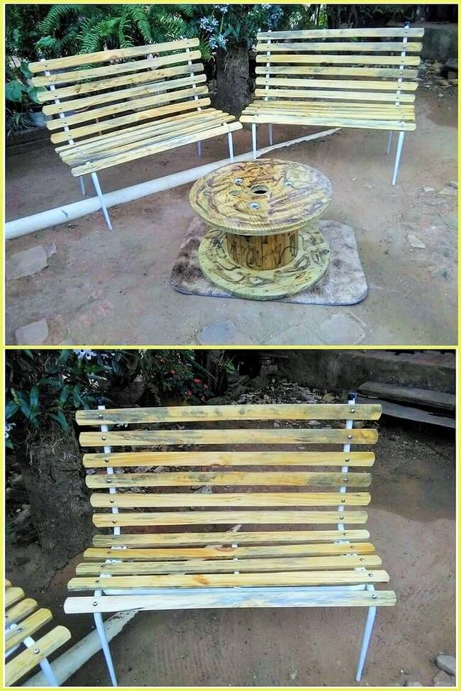 Wooden-Pallet-Patio-Benches-Ideas