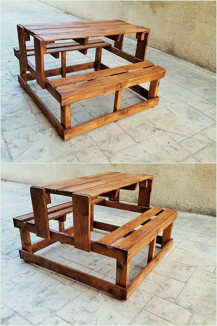 Wooden-Pallet-Table-with-Benches