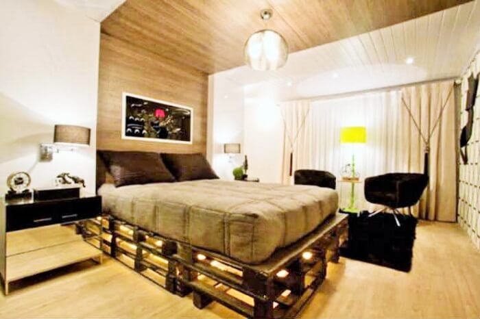 Wooden Pallets Bed Ideas.