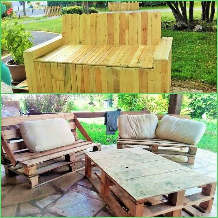 Wooden Pallets Garden Sofa (2)