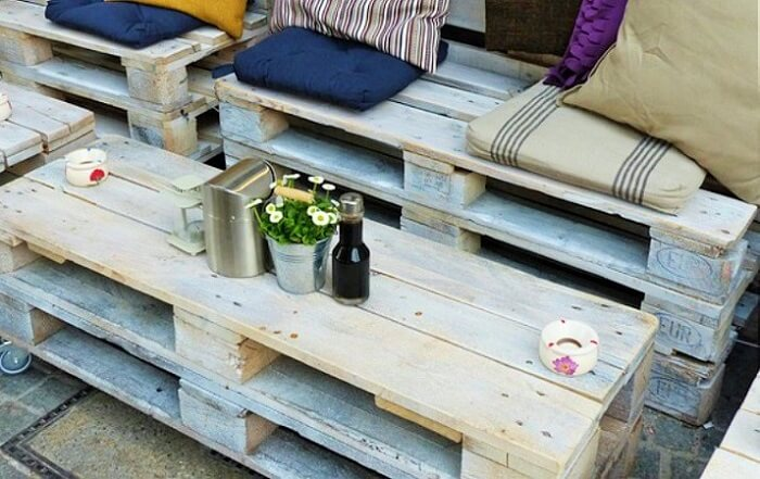Wooden Pallets Table and sofa.
