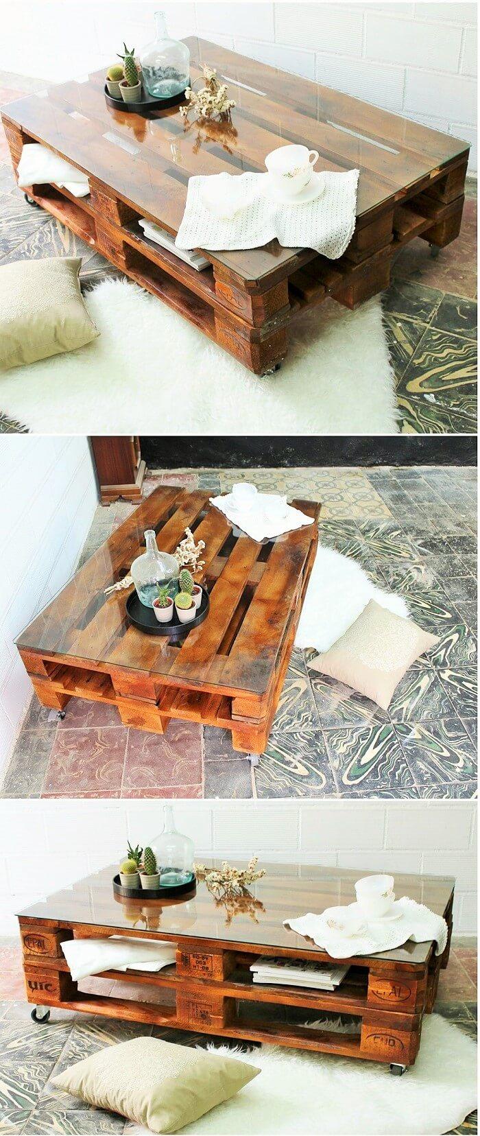 Wooden pallets cofi table ideas (2)