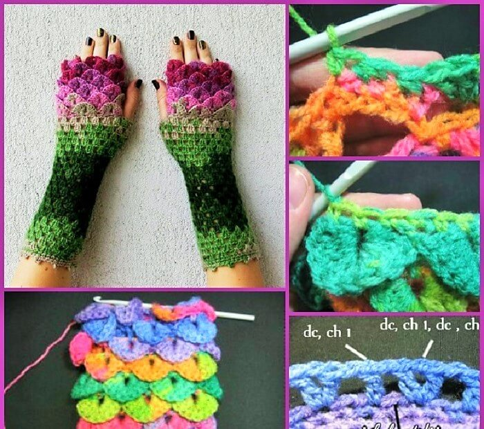 DIY-Crochet-Dragon-Glove-Free-Pattern-2