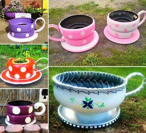 DIY-Cute-Shaped-Planters-Made-from-Old-Tires-Projeects (2)