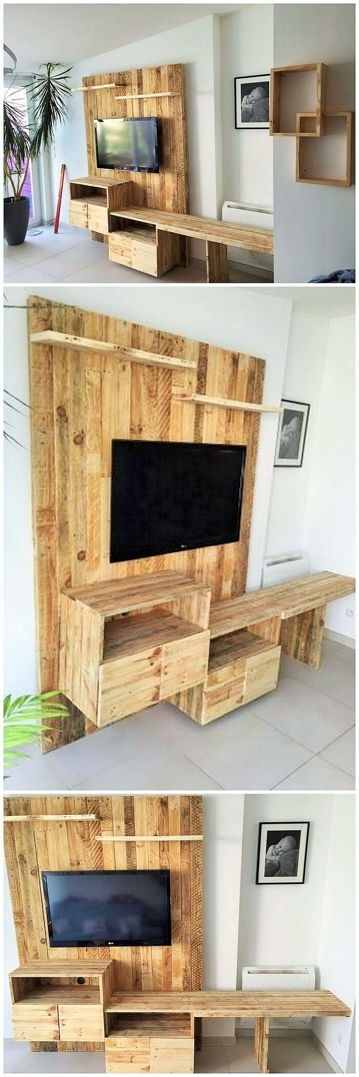 DIY WOOD PALLETS MADE TERRACE PROJECT (14)