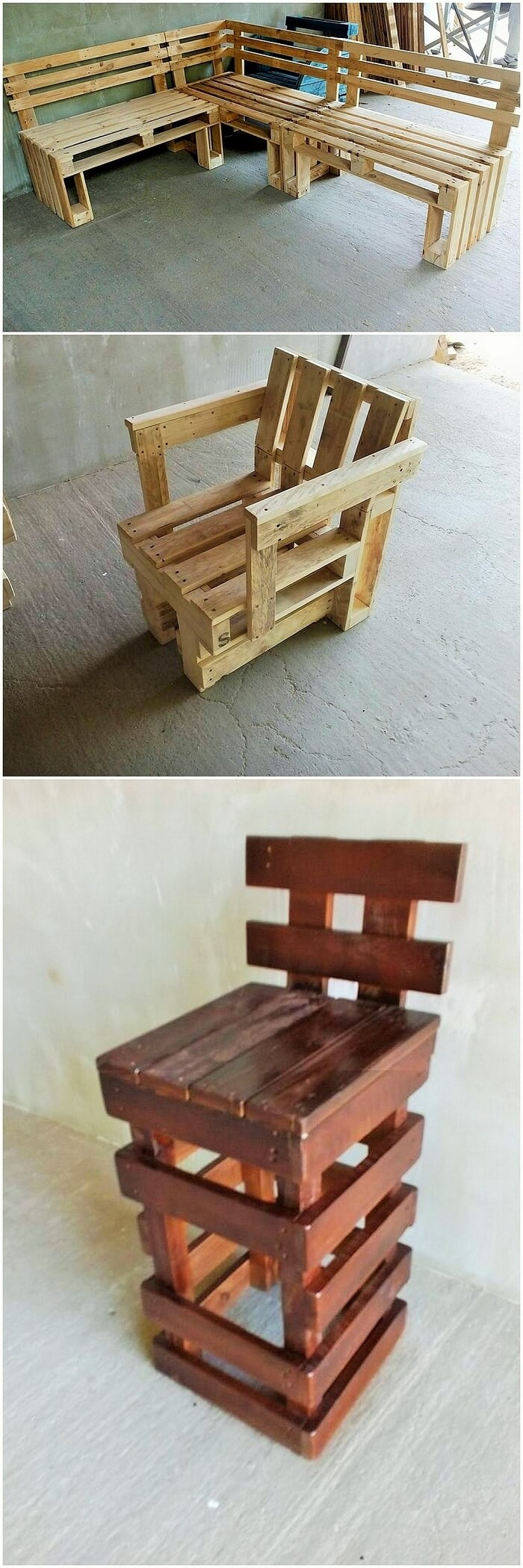 DIY WOOD PALLETS MADE TERRACE PROJECT (15)