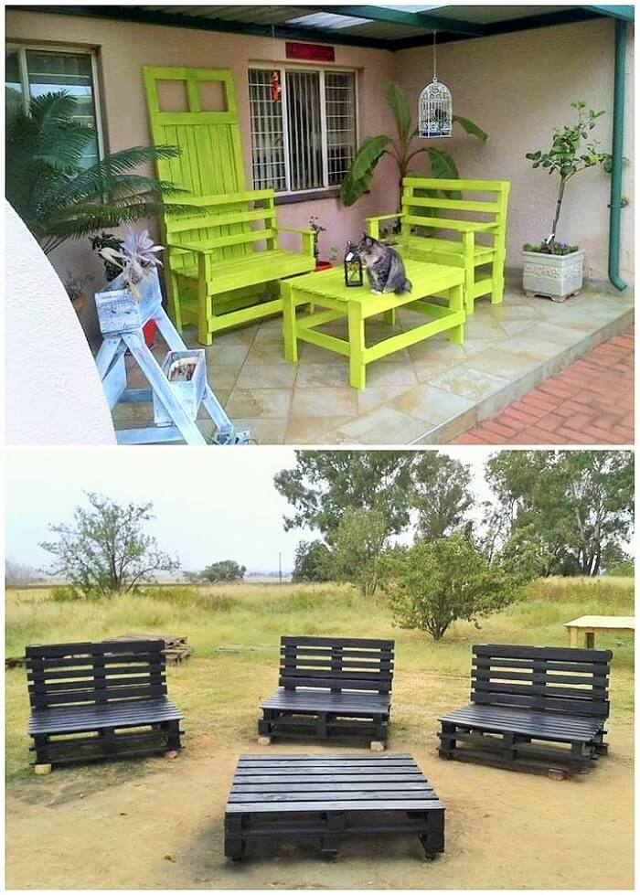 DIY WOOD PALLETS MADE TERRACE PROJECT (17)