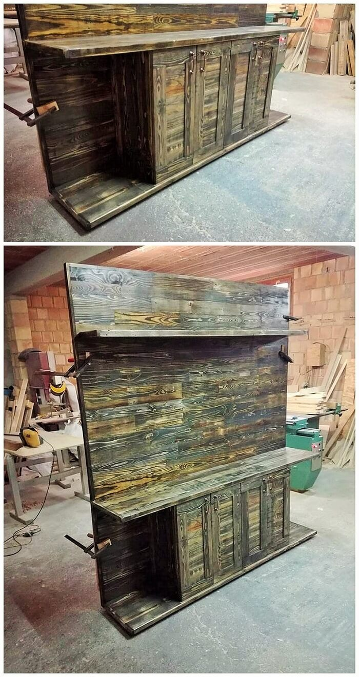 DIY WOOD PALLETS MADE TERRACE PROJECT (6)